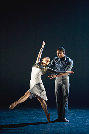 Ballet Black Sayaka Ichikawa and Damien Johnson in Martin Lawrance's 'Capured'