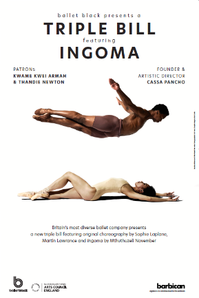 Mthuthuzeli November & Sayaka Ichikawa of Ballet Black in Mthuthuzeli November's 'Ingoma'