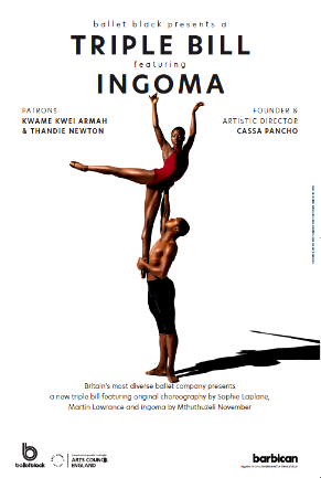 Cira Robinson & Jose Alves of Ballet Black iMthuthuzeli November's 'Ingoma'