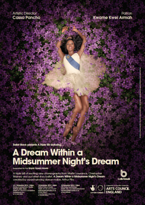 Ballet Black Ballerina Dream Within a Midsummer Night's Dream Poster 2014