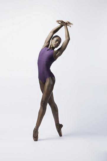 Cira Robinson wearing Freed's Ballet Brown Pointe Shoes