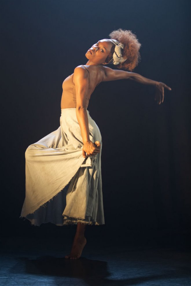 Marie Astrid Mence of Ballet Black in Mthuthuzeli November's 'Ingoma'