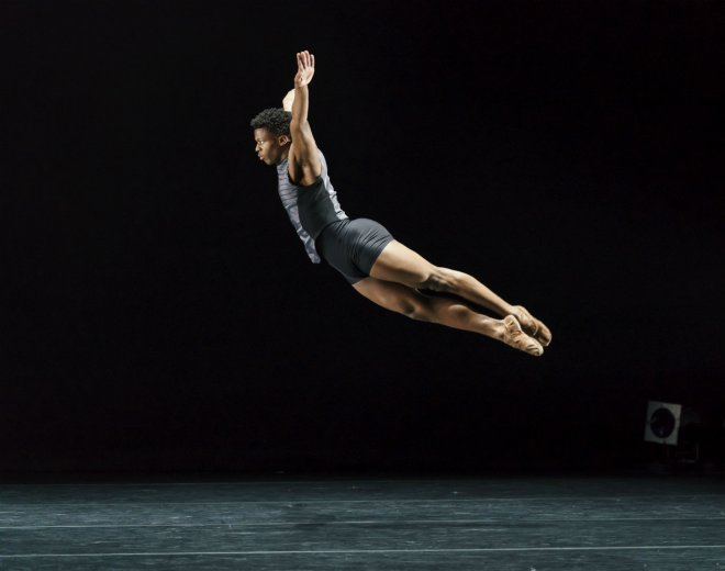 Mthuthuzeli November of Ballet Black in Martin Lawrance's Pendulum