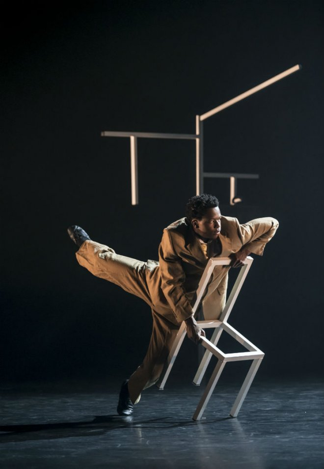 Mthuthuzeli November of Ballet Black in Cathy Marston's The Suit